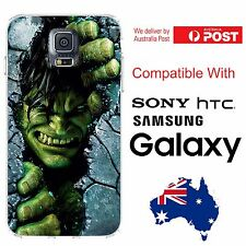 Samsung Galaxy Silicone Cover Case Marvel Avenger Incredible Hulk - Coverlads