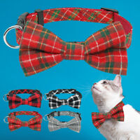 Small Dog Cat Bow Tie Collar Christmas Soft Cotton for Pet Puppy Chihuahua S M