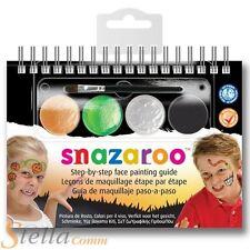 Snazaroo Halloween 2 Step Guía Pintura facial Maquillaje Libreta con 4 COLORES