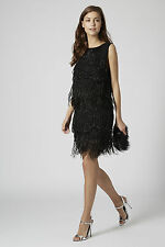 Topshop Celeb! LIMITED EDITION Feather Hem Skirt UK Size 12 RRP- £95