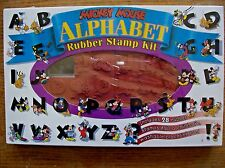 Rubber Stamp - Mickey Mouse Alphabet Kit - NEW