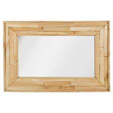 Large Wall Mounted Wooden Mirror Retro 75x50cm Frame Shabby Chic Hallway Decor