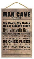 Gift Wooden Plaque Man Cave Message Star Design Beer Hanging Home Decoration