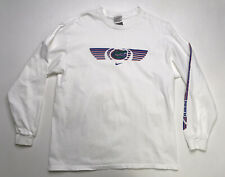 VINTAGE Nike Florida Gators T-shirt Men's Size Large White Long Sleeve