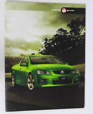 New Holden Commodore VE Ute Series 1 Sales Brochure Memorabilia Atomic Green