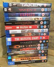 Huge Blu-Ray Movie Bundle x16: Taken 1 & 2, Rush, Road, Exposed, Hateful Eight