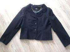Hobbs Black Suit Jacket Blazer Size 16 Fully Lined