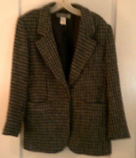 Appointments Black & Gray Houndstooth Blazer Size 10