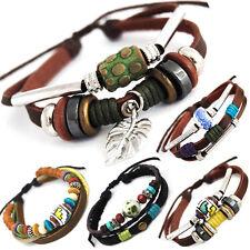 El tíbet serie 6! pulsera de cuero bracelet Leather unisex! pulsera de estilo surfista señores señora