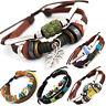 TIBET SERIE 6! Leder Armband Bracelet Leather Unisex!Surferarmband Herren Damen