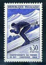 FRANCE - 1962 yvert 1326 - ski, descente - neuf**