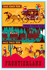 "DISNEY COLLECTORS POSTER 12"" x 18"" - FRONTIERLAND - STAGE COACH RIDE"