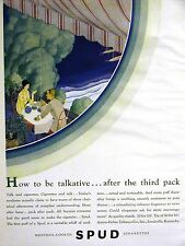 SPUD Menthol Cigarettes Axton-Fisher Tobacco SOOTHING Art Deco Ad 1928 Matted