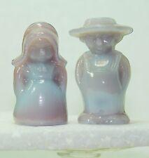 Boyd Glass Eli & Sarah Amish Couple Blue Orchid