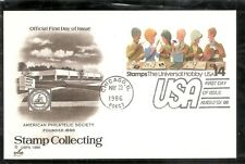 US SC # UX110 Stamp Collecting . Postal Card FDC. Artcraft Cachet