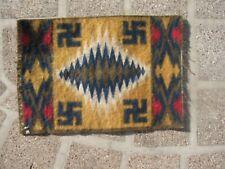 New listing Indian Blanket vintage antique Tobacco felt dollhouse Rug