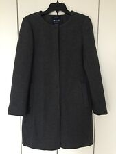 New Madewell Women's Heather Grey Wool Curator Coat Size S