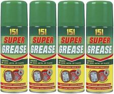 4 X 200ml Super Grease Spray Lubricate Can Aerosol Oil Corrosion Resistant