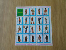 STAMPS AJMAN   MILITARY UNIFORMS 1972 BLOCK OF 19