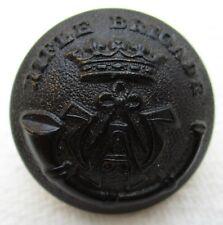 """British Army:""""RIFLE BRIGADE DARKENED BRASS BUTTON"""" (26mm, WW2-1950s, Gaunt)"""