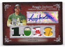 2007 07 Topps Sterling Career Stats Prime Reggie Jackson Quad Tag Patch/Auto 1/1