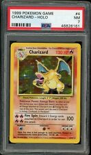 1999 Pokémon Base Set Charizard Holo 4/102 PSA 7 Near-Mint Rare Pokemon