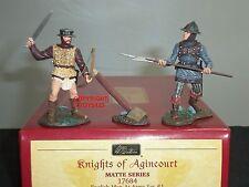Britains 17684 Cavalieri Inglesi di Agincourt Men at arms METAL Set Giocattolo Soldato