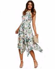 High Neck Machine Washable Floral Dresses for Women