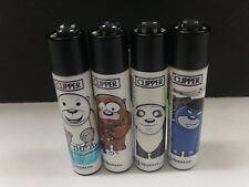 """4 PACK OF CLIPPER LIGHTER REFILLABLE """"BEARS"""" DESIGN"""