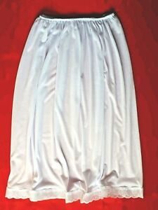 BLACK/ WHITE Half Slips UK Size 6-16 Petticoat Cotton Rich Underskirt Waist slip