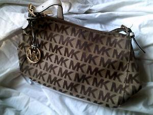 Michael Kors MK Monogram Brown Handbag
