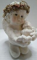 vintage Dreamsicles Figurine Cherub with Baby Cherub by Kristin '93.