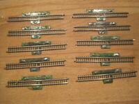 Märklin Mini-Club Spur Z 10 x 8599 Schaltgleisstück gerade 110mm  aus Rückbau
