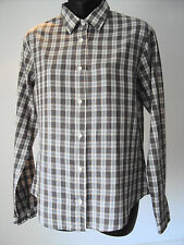 "Vintage Levi ~ brown check l/sleeve shirt ~ size L- 36"" chest"