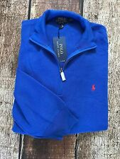 Polo Ralph Lauren Mens Big Tall Half-Zip Pima Sweater Heritage Royal Size 2XLT