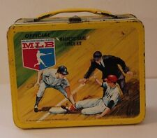 VINTAGE LUNCHBOX W/METAL THERMOS 1968 OFFICIAL MLB W/GAME
