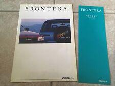 Opel Frontera Sport Prospekt 1991 32 Seiten Geländewagen Preise Preisliste 1993