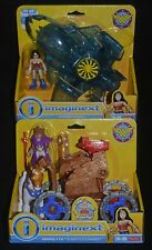 WONDER WOMAN & INVISIBLE JET and HIPPOLYTA & BATTLE CHARIOT Imaginext DC MIP