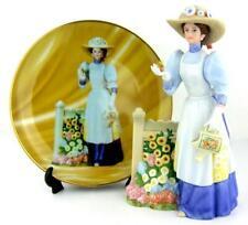 Avon Mrs Albee Presidents Club Plate & Porcelain Lady Figurine 2008 2009 Set
