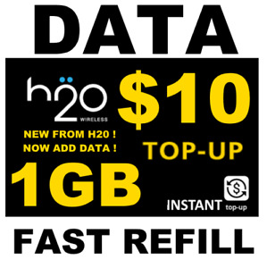 $10 H2O H20  >> 🔥 DATA 🔥 TOP UP  >> 1 GB RE-UP 🔥 GET IT TODAY! FAST! 🔥