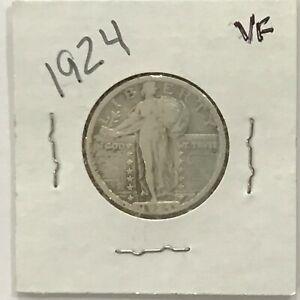 1924 Standing Liberty Silver Quarter  E8480