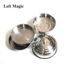 Dove Pan Of Collector Silver Double Layer Load Magic Tricks Stage Illusions Prop