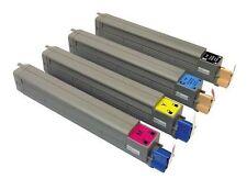 4 x Toner für OKI C810 C810n C810dn C830n C830dn / 44059108 44059107 -44059105