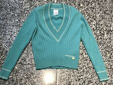 CHANEL 2001 Turquoise Cashmere V-Neck Sweater