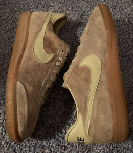 Vintage Nike Shoes 1980s Made In England 7 Men's/8.5 Women's Brown Suede Leather