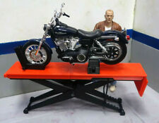 Motorcycle Scissor Lift RED 1/10 Scale Action Figure Garage Doll House Accessory