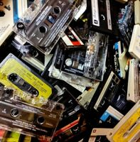 CASSETTE TAPE lot of 25 used TAPES for CRAFTS of DECORATION --- 80s 90s party