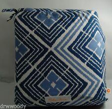 New Celandine Duvet Cover Sham Set Diamond Pattern Navy Blue/White King $180