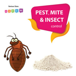 Diatomaceous Earth Feed Grade DE for MITES, FLEAS, TICKS, LICE INSECTS & PESTS,