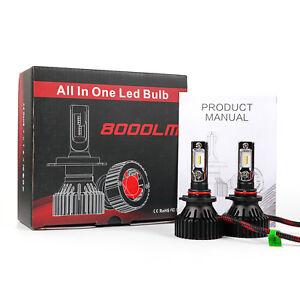 T8 LED 80W 8000LM Bulbs 6000K White Headlight High Beam Kit - 9005 HB3 (D)